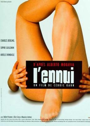 """Affiche du film """"L'ennui"""", adaptation cine du livre."""