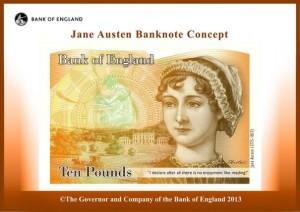 Vistoire féministe : Jane Austen sur les billets de banque anglaise
