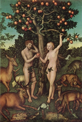 Adam and Eve by Lucas Cranach (1526)
