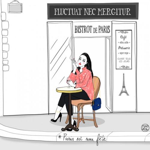 Illustration hommage aux victimes des attentats du 13/11/15 par Madlili (http://madlili.com/2015/11/paris-mon-amour.html)