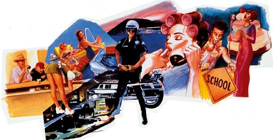 """Détail de l'affiche de l'adaptation ciné des Vitamines du bonheur de Carver, """"Short cuts"""" en 1993 (Altman)"""