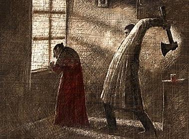 Crime et châtiment de Dostoïevski adapté en film d'animation par  Piotr Dumalas (2000)